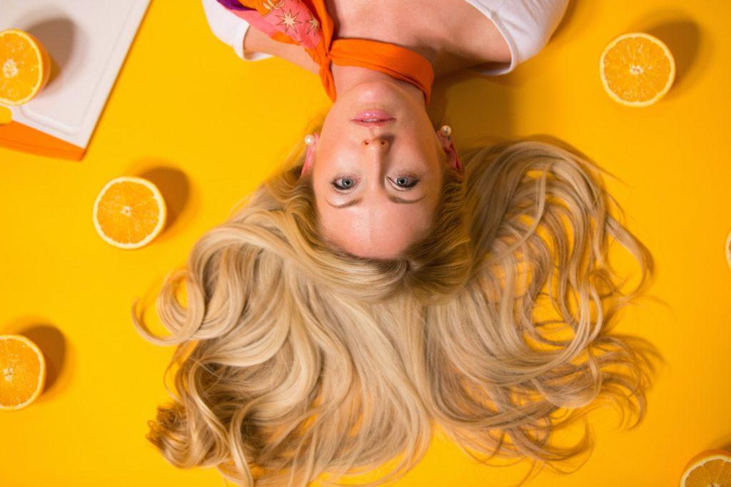 dauerhaft glänzende Haare